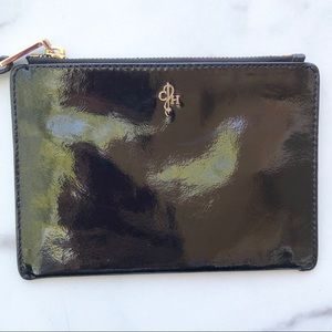Patent leather Cole Haan wristlet